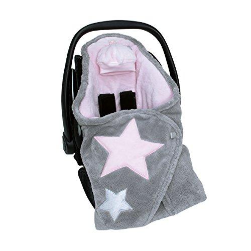 Bemini by Baby Boum 392STARY54SF Decke Biside Softy Stary Cristal, 90 x 90 cm, rosa