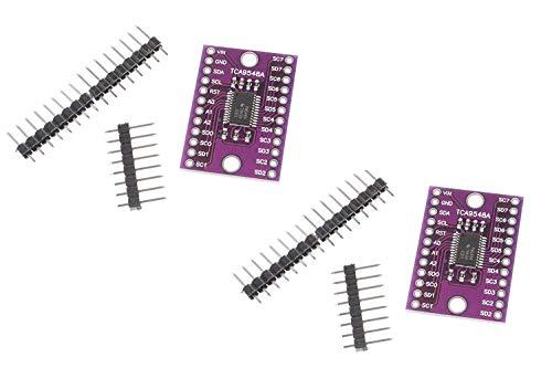 ZHITING TCA9548A I2C IIC-Multiplexer-Breakout-Karte 8-Kanal-Erweiterungskarte für Arduino (2er-Pack)