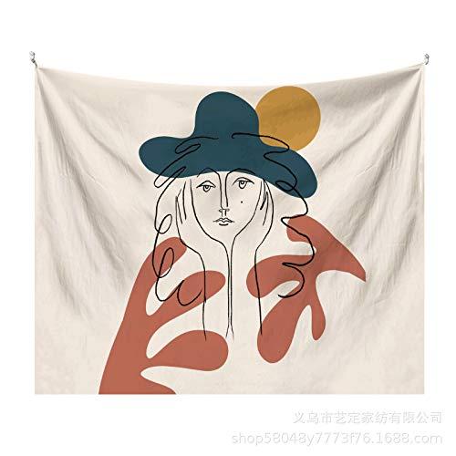 CNYG Tapiz de Hoja Simple Morandi Fondo literario Tela Decoración de Pared Tela de decoración artística Morandia-13 1.5x1.3M(Modelos cepillados