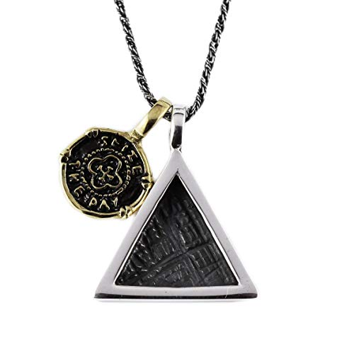 Men Sterling Silver Triangle Necklace