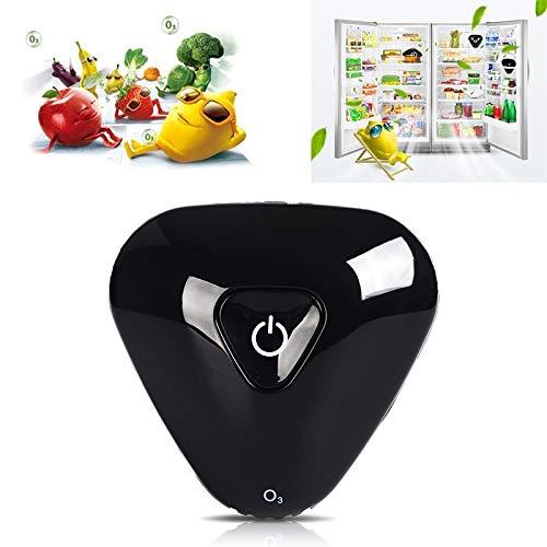OPNIGHDYMD Mini refrigerador de ozono purificador de Aire, ozono Generador Portátil, conservación de Alimentos ambientador Nevera, Nevera USB Recargable Eliminador de olores (Color : Black)