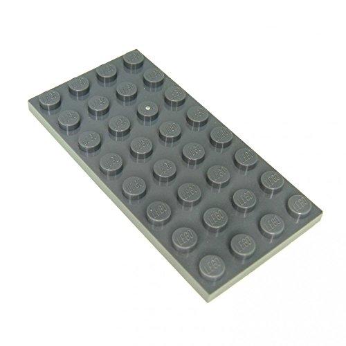 3 x Lego System Bau Platte neu-dunkel grau 4 x 8 Noppen Star Wars 60061 8129 3818 7633 8017 3035