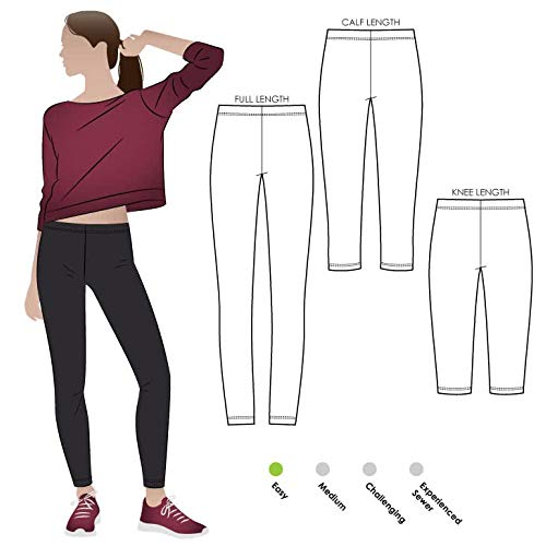 Style Arc Sewing Pattern - Laura Legging (Sizes 04-16) - Click for Other