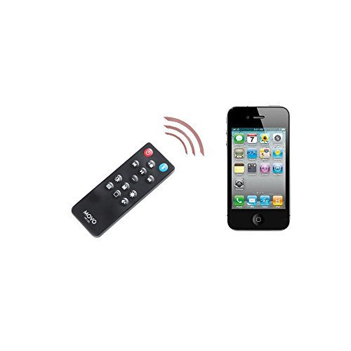 Movo AR150 Wireless Bluetooth Multi-Media Remote Control for Apple iPhone, iPad, iPod, iMac, MacBook with Camera, Volume, Playback, Brightness, Siri and Lock-Screen Controls