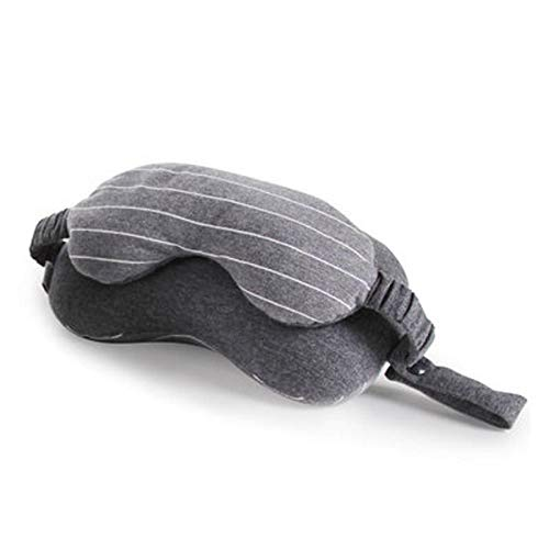 Yi-xir Suave y duradera 2 en 1 máscara de ojos Dormancy, cubierta de sombra de ojos, sombra en forma de U, almohada de apoyo para el cuello, almohada ligera y elegante (color: gris oscuro)