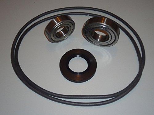Reparatursatz Trommellager Kugellager Lager für AEG Privileg Waschmaschine Lavamat Princess 35x62x10/12 ersetzt 35x62x11/12,5 6205ZZ 6206ZZ Rundschnur für Laugenbehälter Souplesse Dynamic