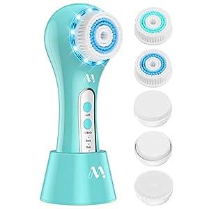 Cepillo de Limpieza Facial 5 en 1 Masajeador Facial Eléctrico Limpiador de Poros Faciales con 5 Cabezas de Cepillo Para el Acné, Puntos Negros, Piel Muerta y Maquillaje