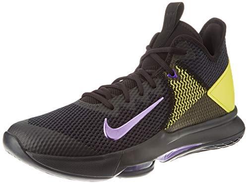 Nike Lebron Witness IV, Zapatillas de bsquetbol Hombre, Negro Púrpura Amarillo Óptimo...