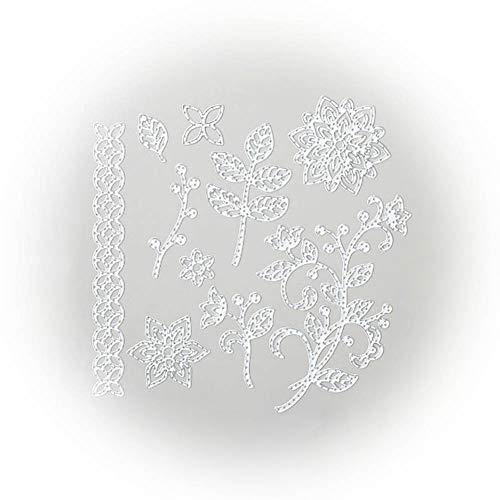 Zhouba Metall-Stanzformen für Kartenherstellung, Blumen-/Pflanzen-Metall-Stanzform, Stempel, Schablonen, DIY, Scrapbooking, Album, Basteldekoration