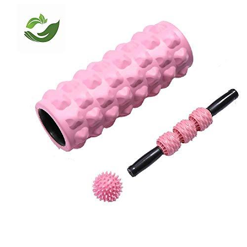 FLY FLU Foam Roller,Faszienrolle Foam Roller Physiotherapie Muskelmassagegerät Massageball Für Plantarfasziitis Fersenschmerzen Muskelkater Myofascial Release Fersensporn,Pink