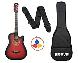 Breve BRE-38C-RD Acoustic Guitar With Bag
