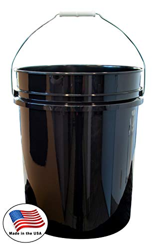 Argee RG5500BK/10 Plastic Bucket, 5 gallon, Black, 10 Count