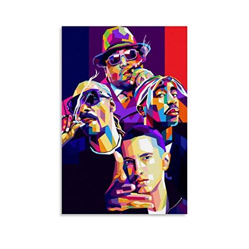 Biggie Eminem 2PAC Tupac Poster Dekorative Malerei Leinwand Wandkunst Wohnzimmer Poster Schlafzimmer Malerei 60 x 90 cm