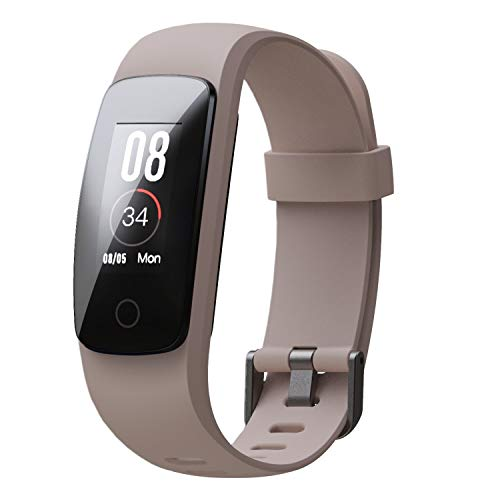 boAt Progear B20 Smartband with Activities Tracker, Sports Mode, Heart Rate Monitor, Smart Notification, Vibration Alert, Touch Colour Display, Gesture Control, USB Direct Charge, IP68(Classic Beige)