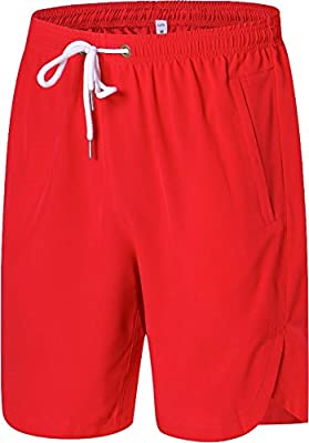 Luffy Mens Athletic Gym Shorts Elastic Waist - Quick Dry Stretchable for Running, Training, Workout Swim Trunks for Watersports