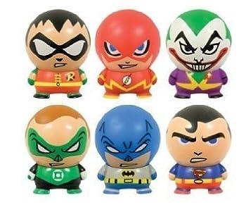 DC Comics Buildable Capsule Figures  6 Piece Set  Superman Batman Robin Flash Green Lantern and Joker by DC Comics