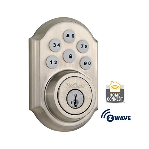 Kwikset 910 Door Lock for U.S., 910TRL ZW 15 SMT (Satin Nickle), by Kwikset, Cert ID: ZC08-15060007