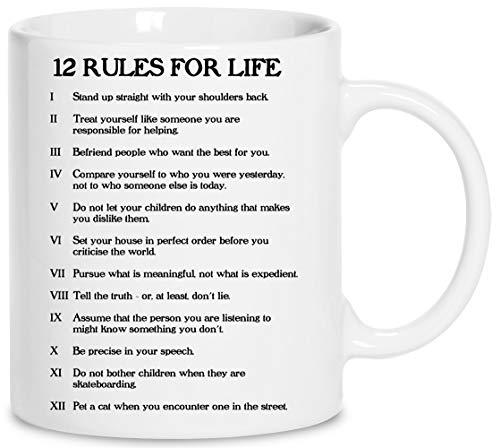 12 Rules For Life Ceramica Bianco Tazza Cup Mug