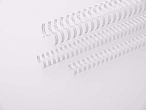 Renz One Pitch Drahtkamm-Bindeelemente in 2:1 Teilung, 23 Schlaufen, Durchmesser 22.0 mm, 7/8 Zoll, weiß