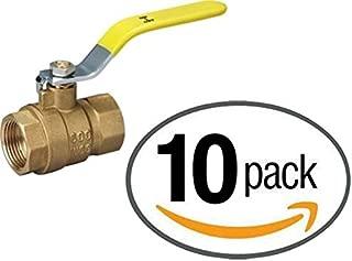 """IPS Full Port Brass Ball Valve – Threaded 600 WOG (Lead Free) – 10 Pack (1"""")"""