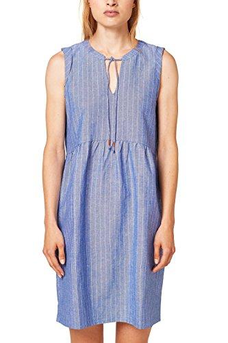 edc by ESPRIT Damen 068CC1E009 Kleid, Blau (Grey Blue 420), 36