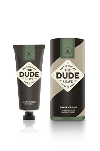 THE DUDE - Shave Cream (by Waterclouds) - From Nose To Neck - Rassiercreme made in Sweden - 100ml