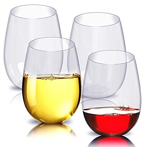 Copa de vino tinto 8 unids/set 360 ml inastillable vidrio de vino tinto irrompible vasos vasos vasos de cerveza transparente