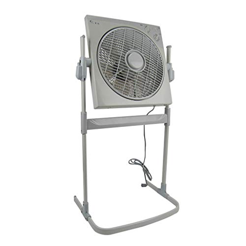 L-Fan Freistehendes Luftzirkulation Ventilatoren, Schlafzimmer Spin-Lüfter Haushalts Heller beweglicher elektrischer Ventilatoren höhenverstellbar Grau (Size : 96 * 46CM)