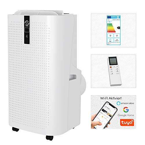 Famgizmo Mobile Klimageräte, 12000 BTU 4in1 Klimaanlage mit Luftkühler, Luftentfeuchter, Lüfter und Schlafmodus, 24H Timer, WIFI & Fernbedienung, LED-Anzeige, R290, Räume bis 20 qm [Energieklasse A]