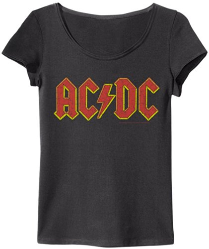 Amplified - Damen T-Shirt AC/DC Logo Vintage Look (Gr. M)