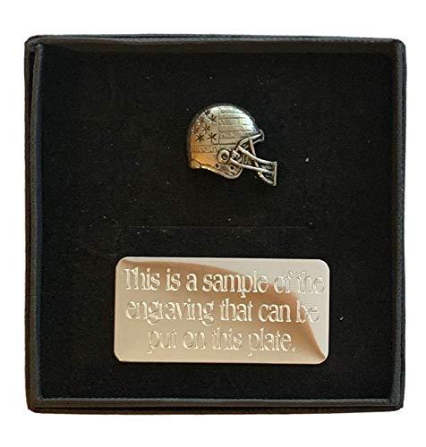 Emblems-Gifts Anstecknadel, Motiv: American Football (S3), Zinn, handgefertigt, inkl. Geschenkbox