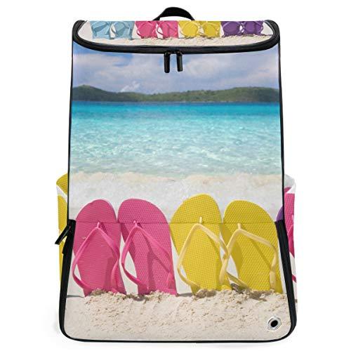 Sac à Dos Sunny Beach Pantoufles Sac à Dos Randonnée pédestre pour Adolescents garçons Filles Perfect School Travel Daycare