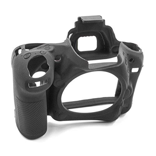 vhbw cámara Cubierta Bolsa Compatible con Nikon D750 cámara - Silicona Negro