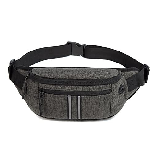 Waterproof Bumbags Running Belt Ligthweight running Pouch Waist packs Adjustable Belt for Outdoors Workout Hiking Gifts For Men Women (Grey)