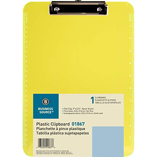 Sparco Transparent Clipboard, neon green