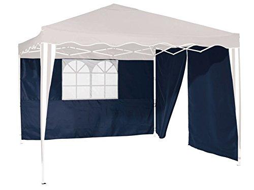 Erweiterungsset 2 Pavillon-Seitenwände Seitenteile, 1x inkl. Fenster (Blau)