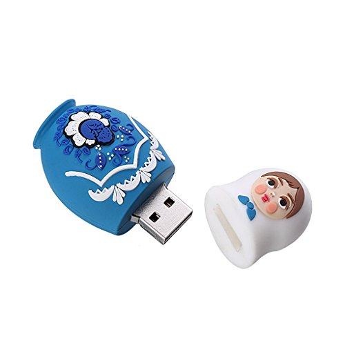 Gazechimp USB Flash Drive Stile Matrioska Russo Bambola Dispositivi Archiviazione Dati - #B 32GB