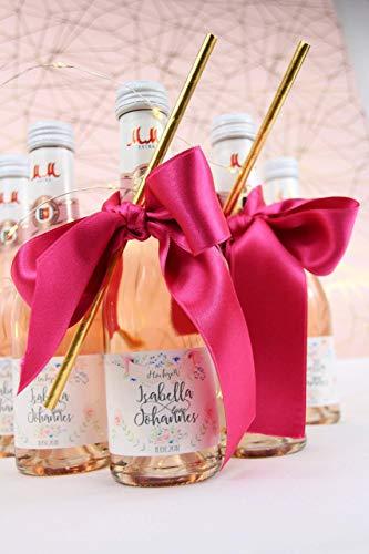 50 x personalisierte Flaschenetiketten Sektempfang Hochzeit