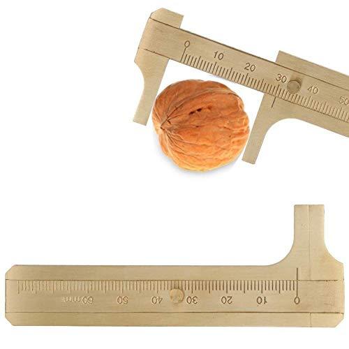 Joyas para Herramientas, Pruebas prácticas de nueces, Vernier, Escala Simple de latón Alta precisión