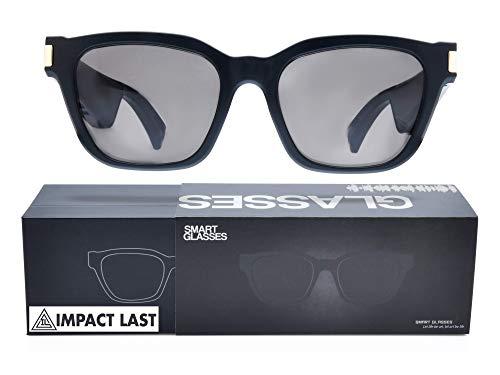 Bluetooth Audio Smart Sunglasses w/Microphone, Long Lasting Battery, Open Ear Directional Audio, UV...