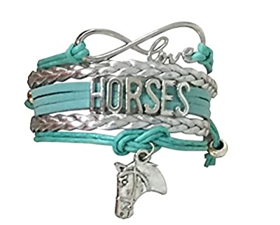 Infinity Collection Horse Charm Bracelet, Horse Lovers Equestrian Jewelry for Her
