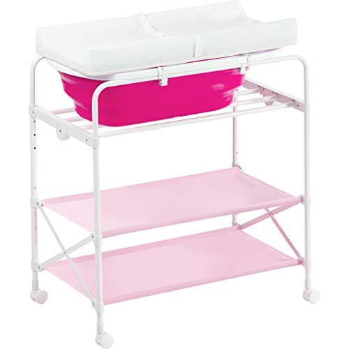 Changing Tables Xinjin Table à Langer, Table d'allaitement, Table d'opération pour bébé, Table de Bain, Table Tactile, Pliable, Bleu, système de Drainage