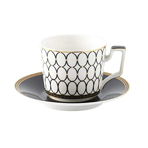 SXXYTCWL Taza de café y platillo Esmalte de color cerámico con taza de café de la taza de café de la llanta de oro Copa de té de cacao caliente de la pequeña capacidad adecuada para el regalo de la of