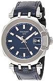 Tissot mens T-Race Stainless Steel Sport Watch Black|Blue T1154071704100