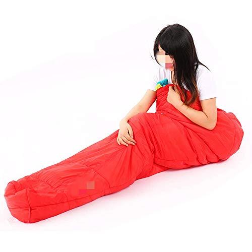OUY Saco De Dormir Portátil Costura Saco De Dormir para Acampar Ultraligero Adulto Senderismo Saco De Dormir De Algodón De Invierno Apto para Ni?os, Adolescentes Y Adultos.