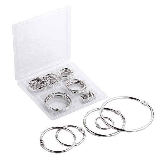 Mr. Pen- Binder Rings, Loose Leaf Binder Ring, 36pc, Assorted Sizes, Book Binder Rings, Ring Binder Clips, Metal Rings for Index Cards, Rings for Flash Cards, Index Card Rings, Book Rings, Ring Hooks