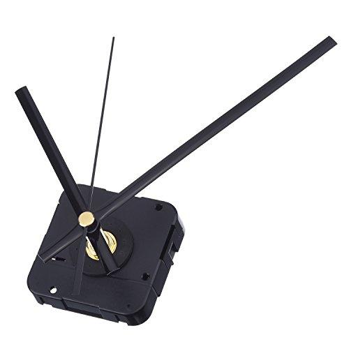 Mudder Long Spindle Quartz Clock Mechanism, 1/2 Inch Maximum Dial Thickness, 9/10 Inch Total Shaft Length (Black)