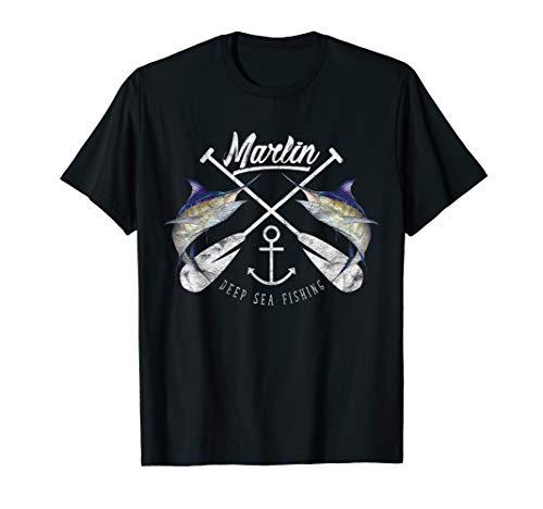 Marlin Sailfish Big Game Deep Sea Fishing T-Shirt & Design