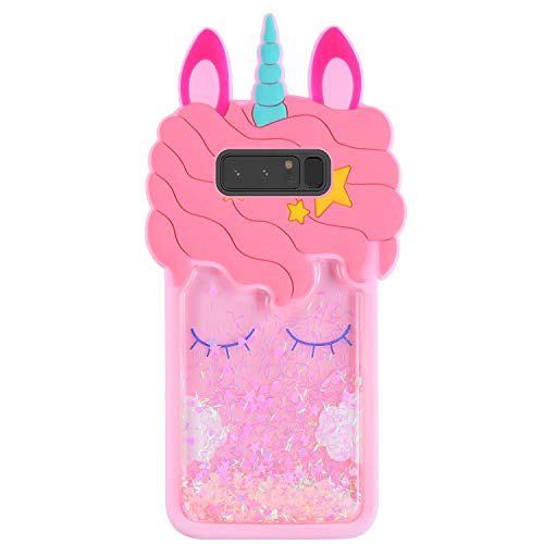Lalakaka Quicksand Unicorn Case for Samsung Galaxy S8 Plus,Animal Character 3D Cartoon Cute Silicone Shiny Glitter Soft Animated Fun Bling Stylish Fashion Cool Funny Cover for Girls Kids Teens S8 Plus