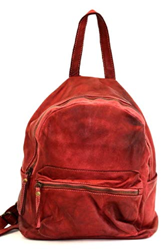 BZNA Bag Ben rot rosso Backpacker Designer Rucksack Damenhandtasche Schultertasche Leder Nappa ItalyNeu
